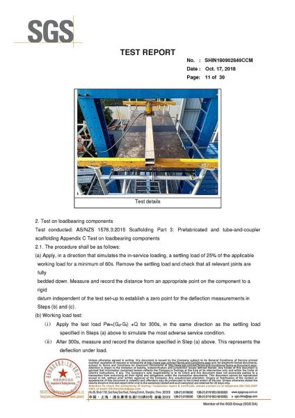 ShowShine Australia SGS Test Report