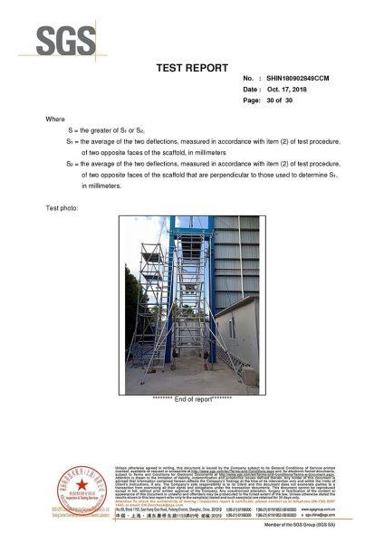 ShowShine Australia SGS Test Report